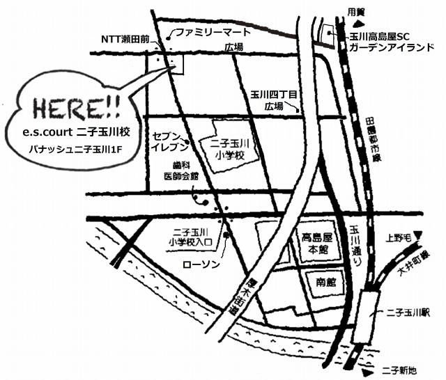 二子玉川校-地図