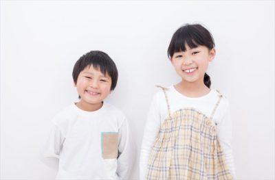 笑顔の児童