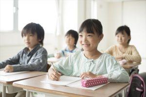学習中の児童