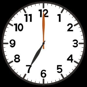 7時の時計