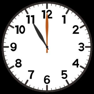 11時の時計