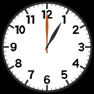 午後1時の時計