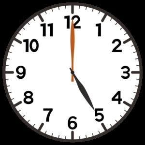 午後5時の時計